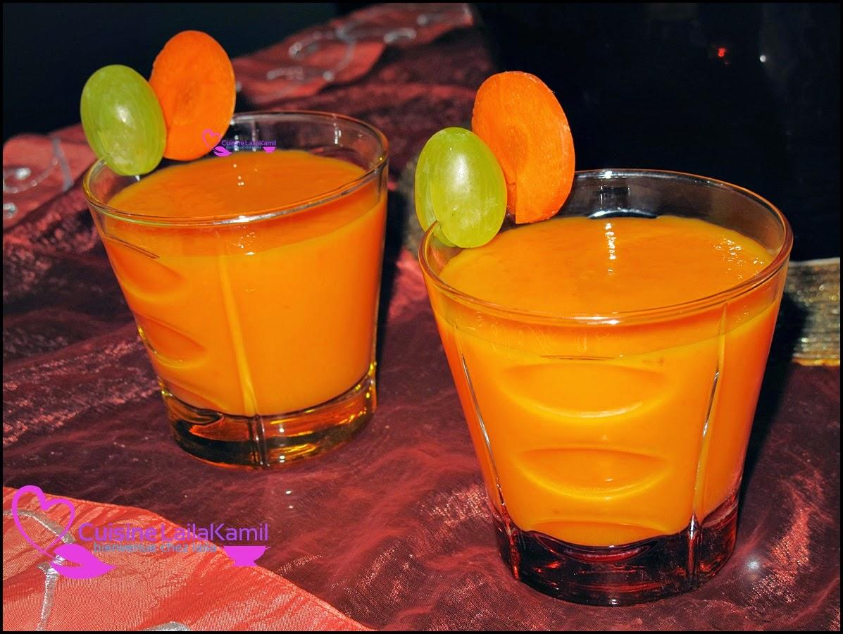 عصير البرتقال بالجزر سهل وصحي