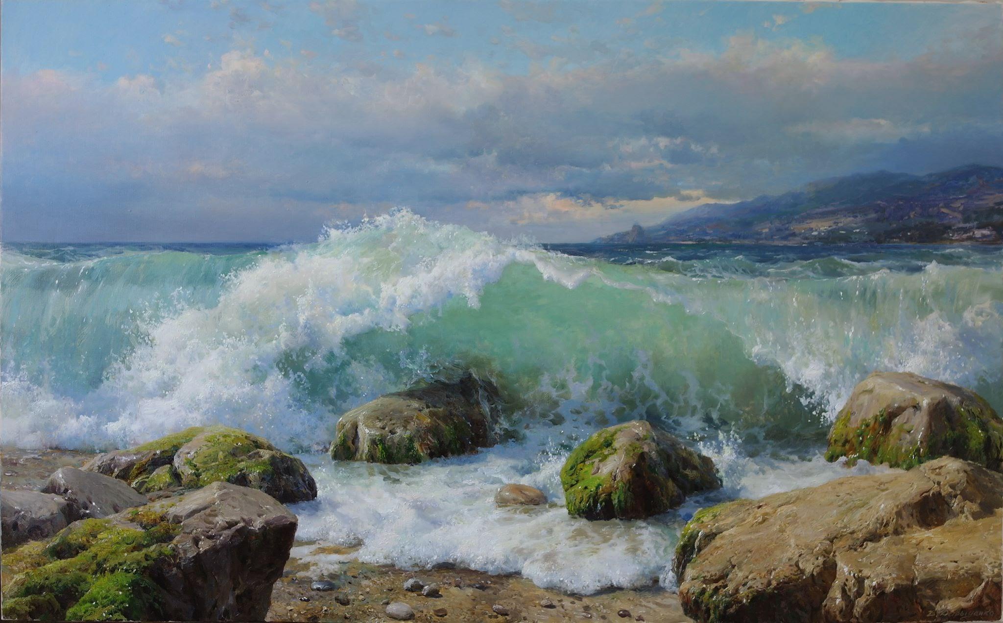 Vladimir Davidenko Sea storm