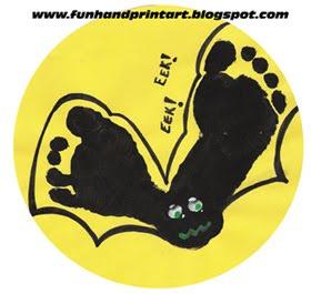 empreinte de pieds chauve souris