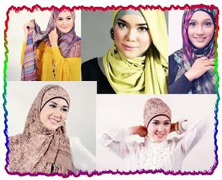 memakai jilbab hijab