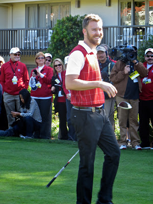 Musician Charles Kelley (of the band Lady Antebellum) at the AT&T Pebble Beach National Pro-Am Golf Tournament