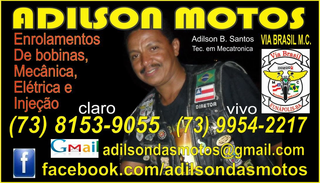 LOGO MARCA ADESIVO ADILSON MOTOS