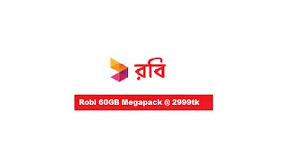 Robi+60GB+Megapack+Internet+Data+at+2999Tk