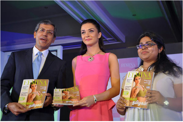 amy jackson launches femina anniversary issue unseen pics