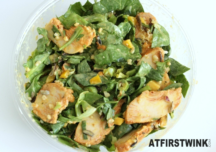 AH Chicken mango salad with coconut lime dressing | Salade kip mango met kokos-limoendressing (mixed)