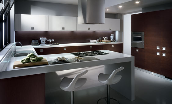 15 fotos de cocinas integrales modernas color chocolate - Camera da letto scavolini ...