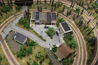 Arial view of Ty's Model Railroad layout