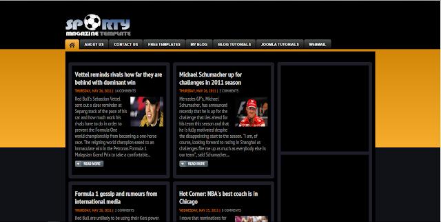 Sporty Magazine 3 Herdiansyah Template Blogger