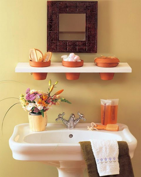 31 creative storage ideas for a small bathroom diy craft projects - Bathroom shelving ideas for small spaces photos ...