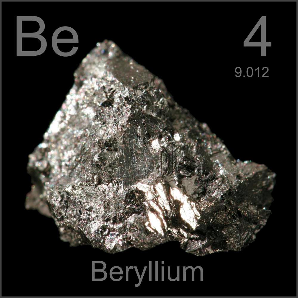 Elemento 4 Berilio on Silicon Periodic Table