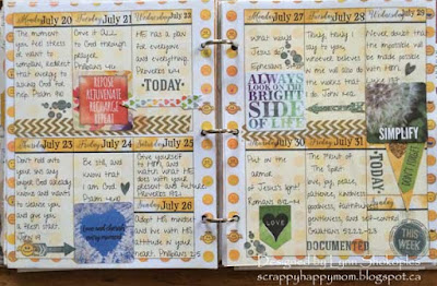 July Calendar Pages by Lynn Shokoples for BoBunny featuring the Calendar Girl Collection