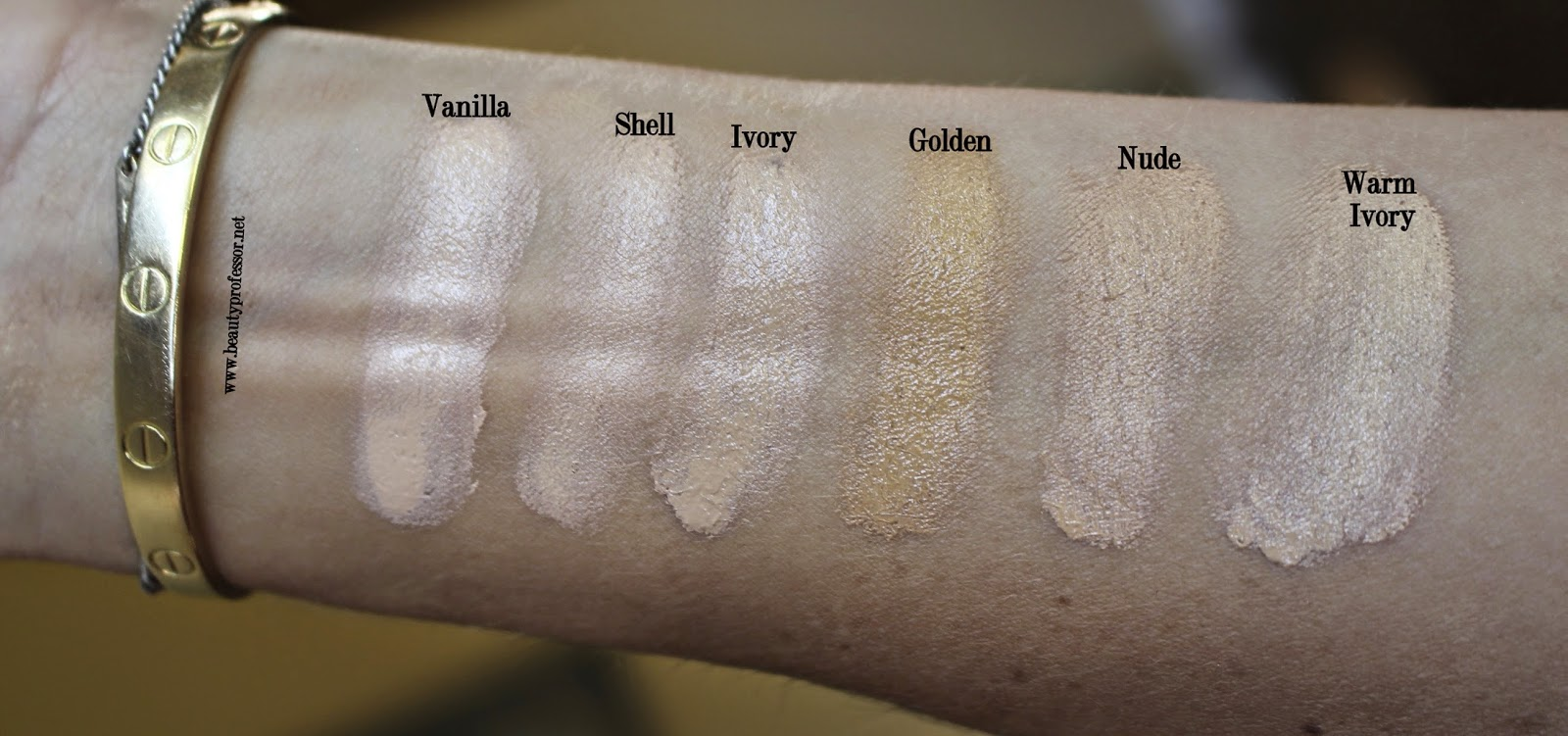 hourglass illusion hylauronic skin tint swatches