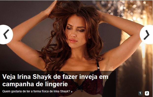 irina shayk em lingerie entre aspas