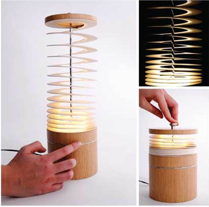 Innovative Curly Sue Spiral Desk Lamp