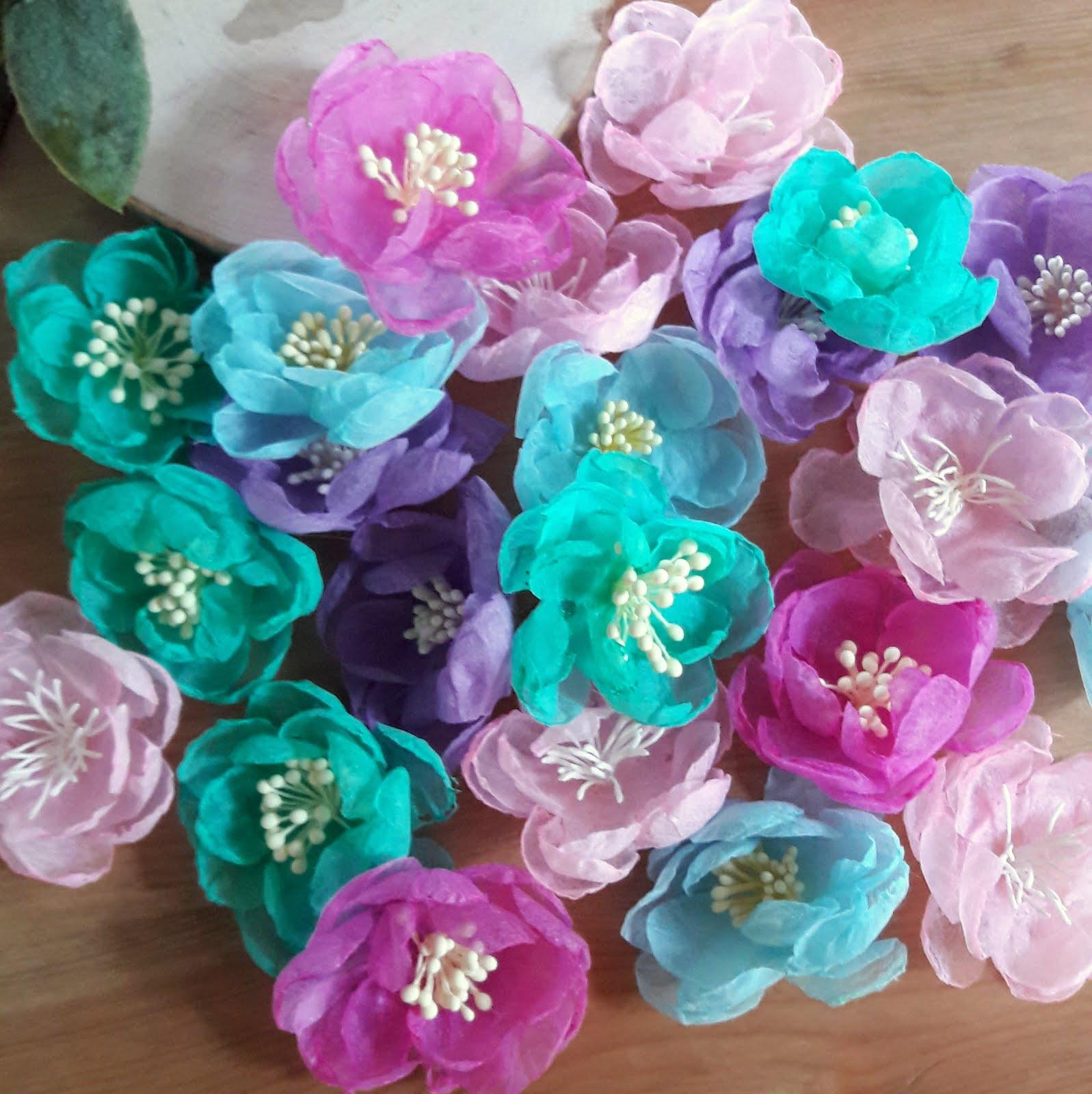 Мастер класс по созданию цветочков из флористического фетра