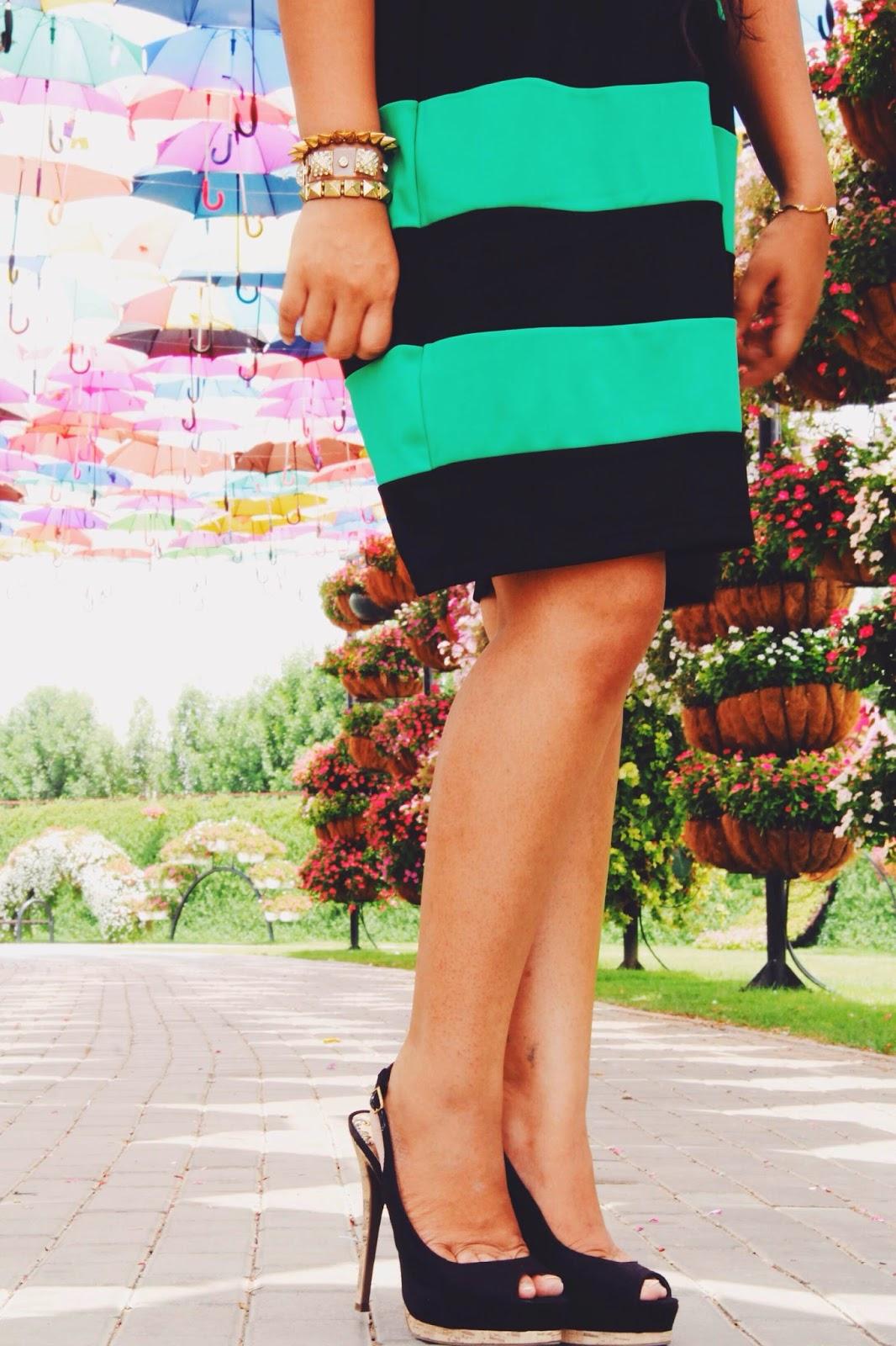 Striped dress heels slingbacks