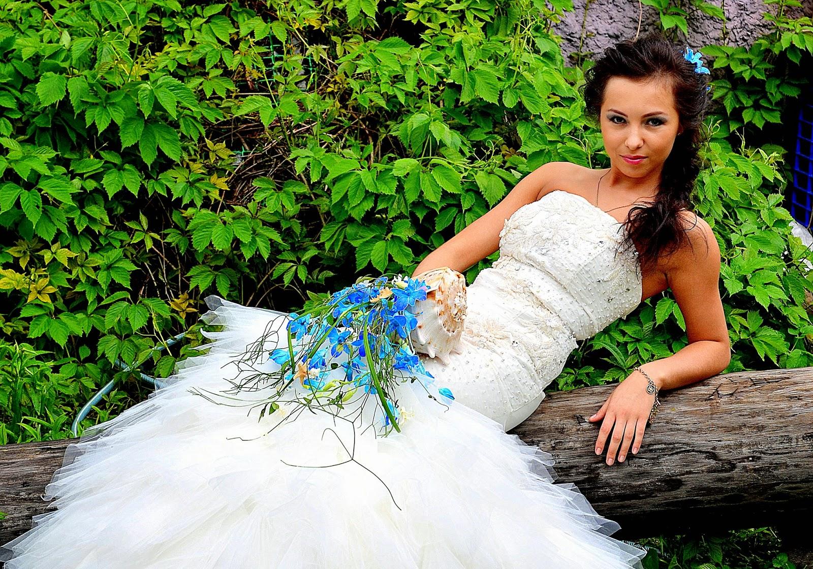 свадебный букет в морской тематике