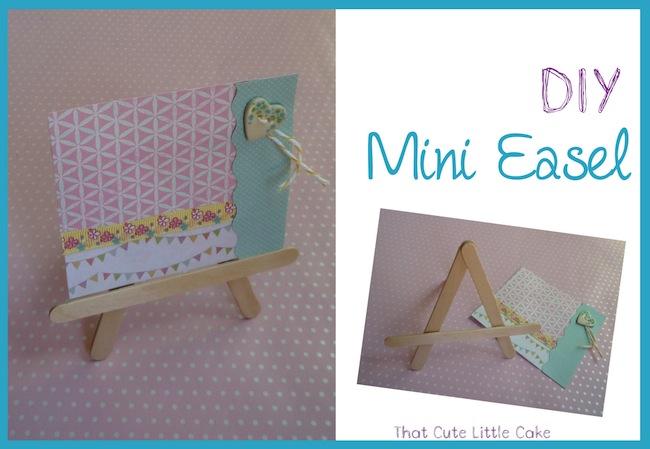 That Cute Little Cake Craft Diy Mini Easels