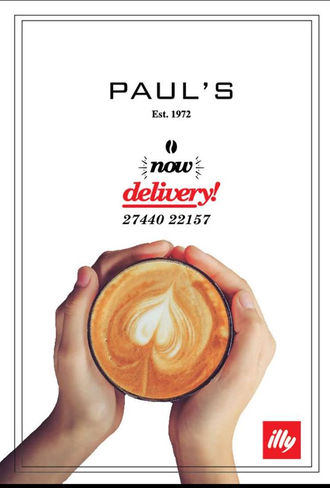 Από Δευτέρα 27 Νοέμβρη Delivery στο χώρο σας