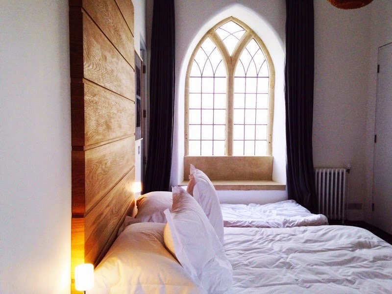 Converted chapel bedroom interior scandinavian style