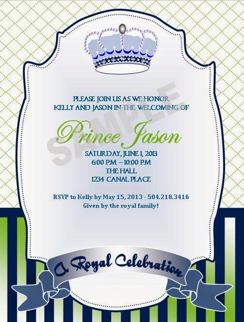 event design by kelly royal prince baby shower invitations