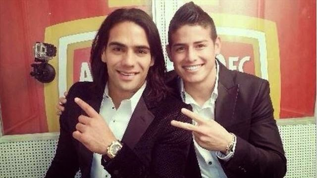Falcao y James Rodríguez