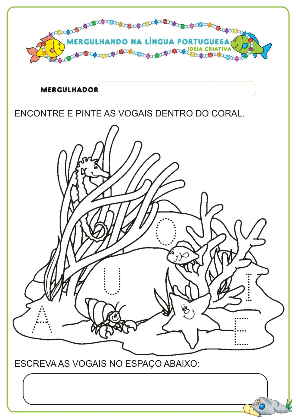 Populares Caderno de Atividades Língua Portuguesa Projeto no Fundo do Mar  YQ58