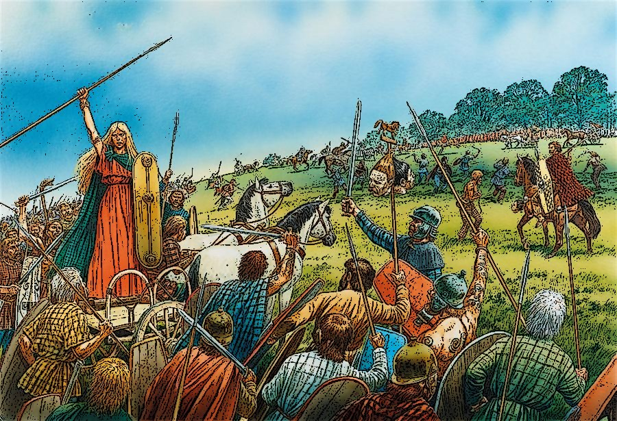 boudicca's revolt Britain has produced many fierce, noble warriors down the ages who have fought  to keep britain free, but there was one formidable lady in history whose name.