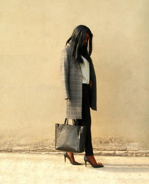Manteau femme a carreaux zara