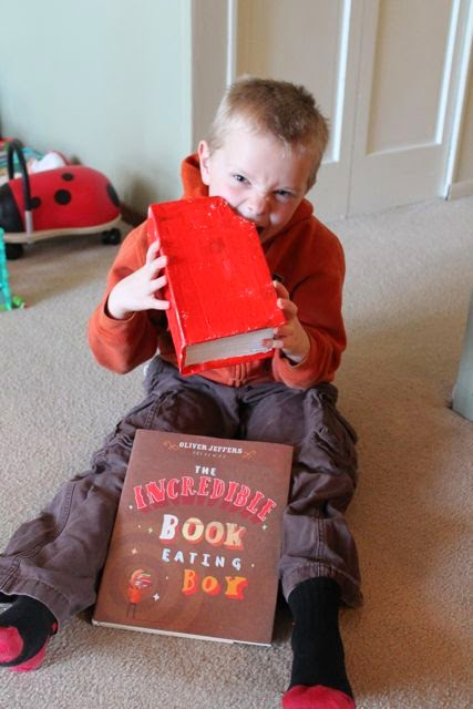 Oliver Jeffers THE INCREDIBLE BOOK EATING BOY activity via www.happybirthdayauthor.com