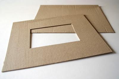Pintalalluna marcos de cart n - Como hacer un marco para un cuadro ...