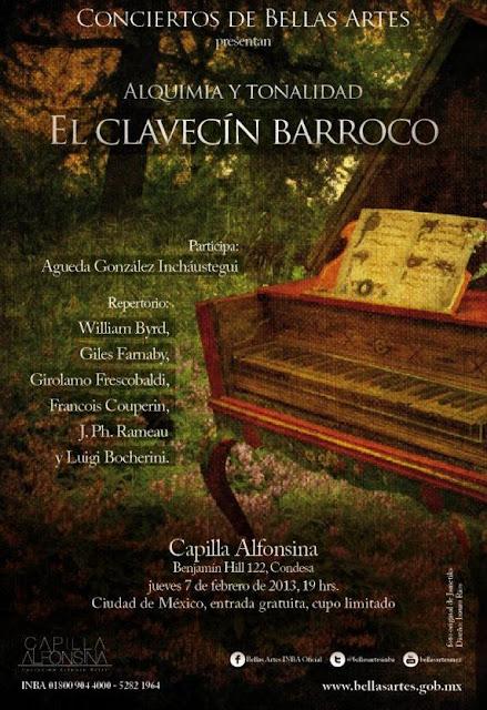 """Concierto """"El clavecín barroco"""" en la Capilla Alfonsina"""