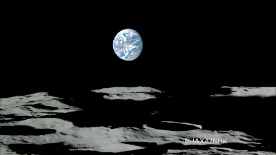 La Tierra saliendo detrás de la Luna. Kaguya