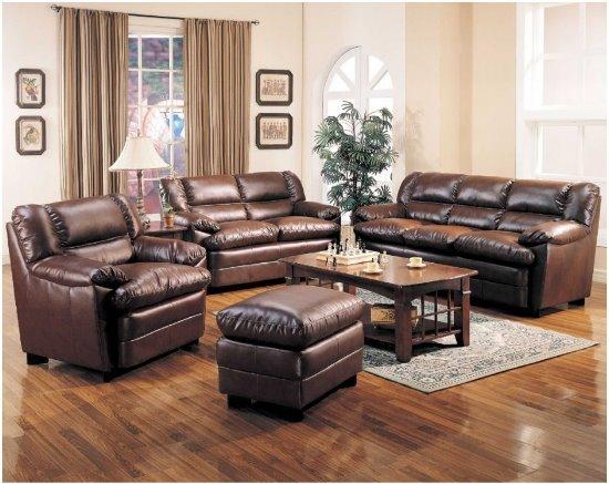 dark-brown-leather-living-room-sets