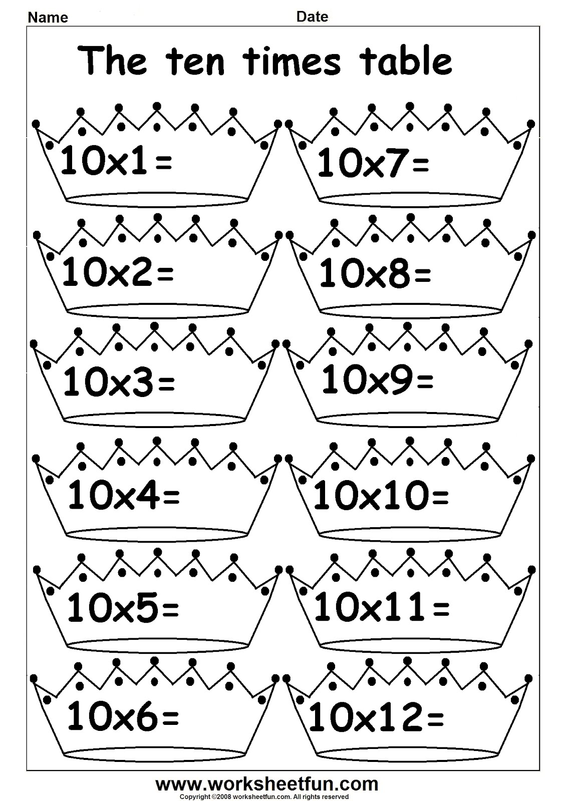 Multiply 10 Worksheet Worksheets For School Leafsea Multiplication ...