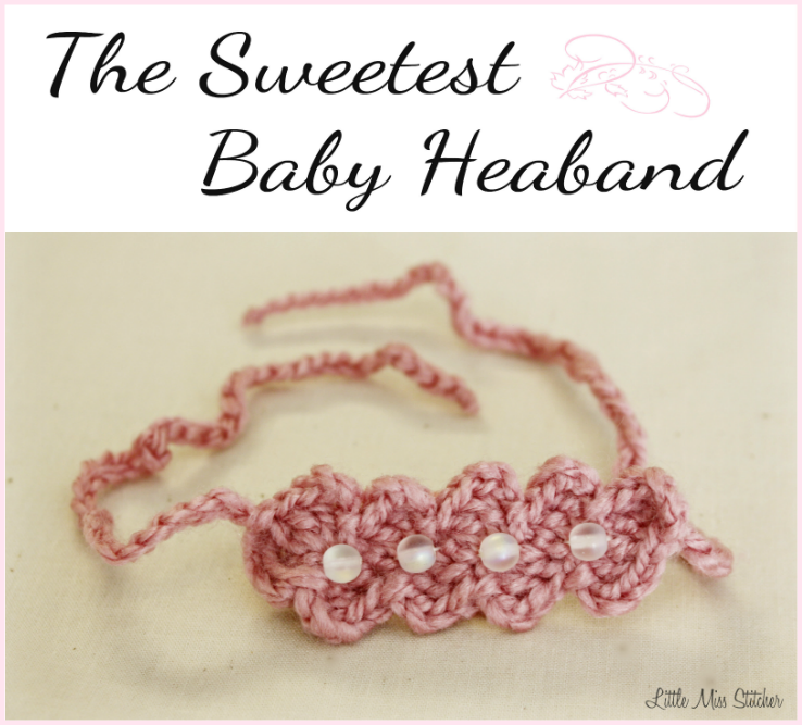 Little miss stitcher the sweetest baby headband crochet pattern ive shared my beads and circles headband and my little bow headband and ive saved my favorite for last this one was actually inspired by ric rac that i dt1010fo