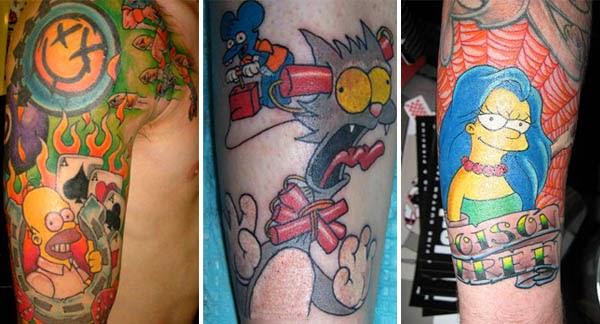 Tatuajes Los Simpsons, http://distopiamod.blogspot.com