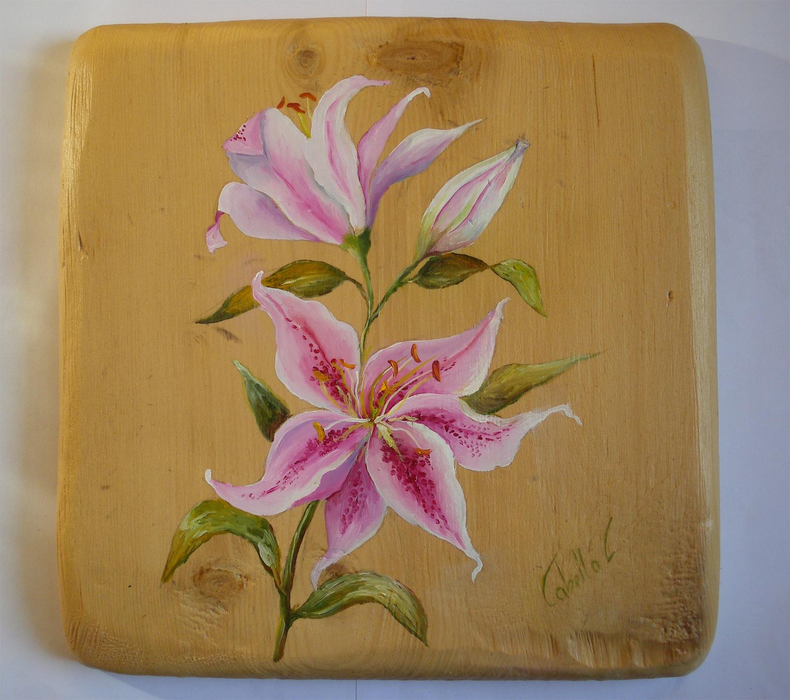 Dipingere fiori su legno yh84 regardsdefemmes - Mobili grezzi da dipingere ...