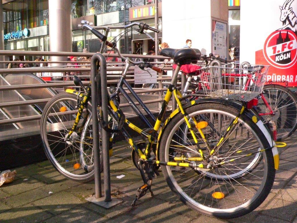 Fahrrad Köln Blogparade Rad radeln fietsen schwarz gelb
