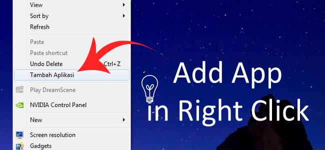 Cara Menambahkan Shortcut Aplikasi pada Menu Klik Kanan