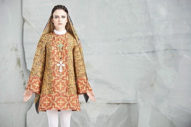 Dolce & Gabbana 2013 AW Byzantine Mosaics Prints Dress