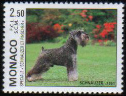 1991年モナコ公国 シュナウザーの切手