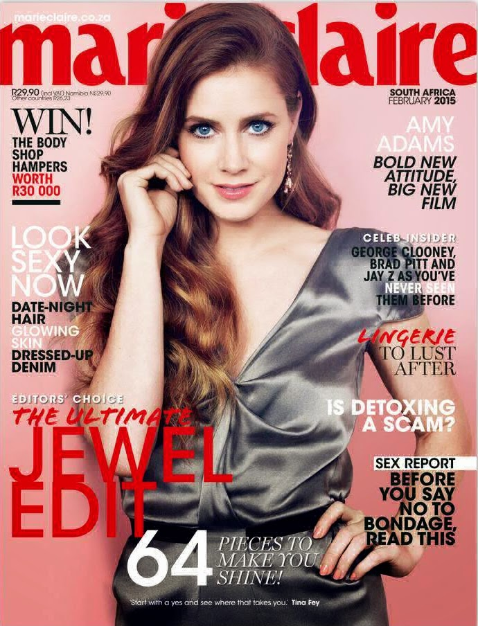 Actress, Singer: Amy Adams - Marie Claire, South Africa, February 2015