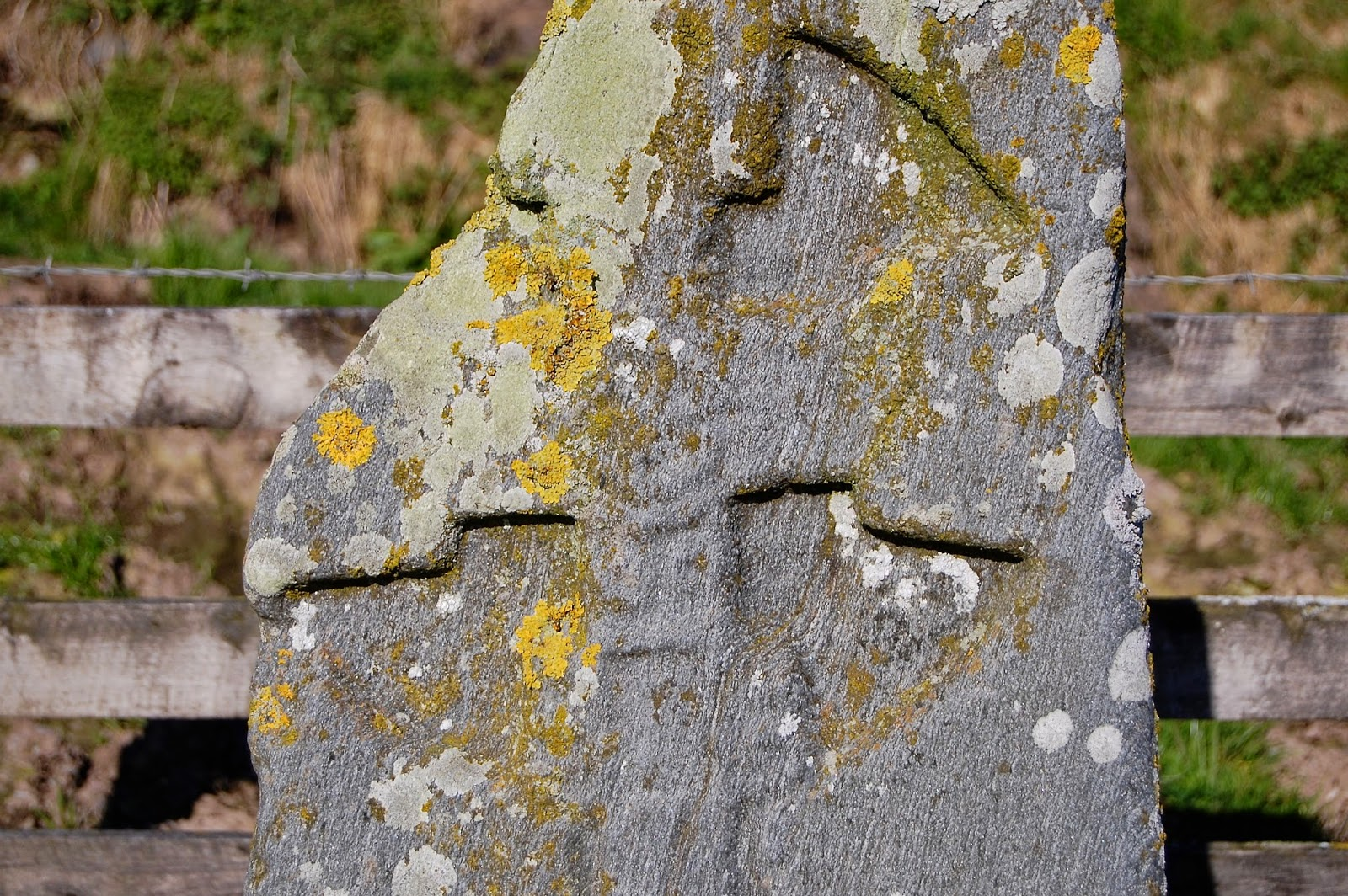 Close-up of St. Colmac's cross