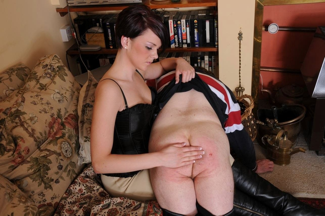Spanking for foreplay