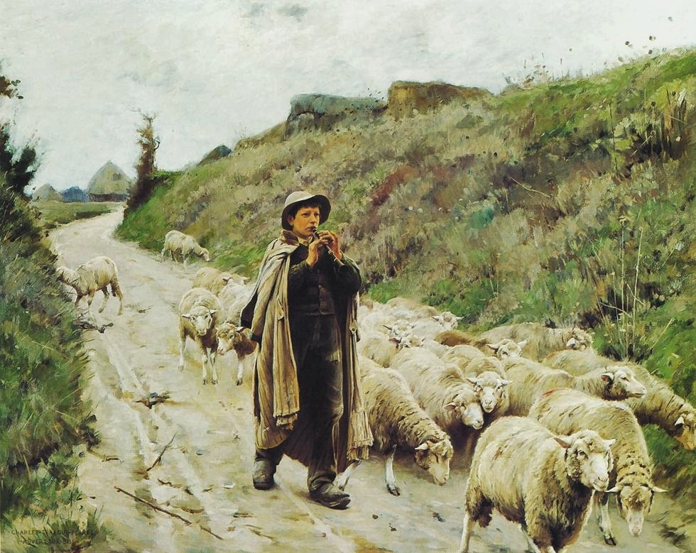 Charles  Sprague  Pearce  return  of  the  flock