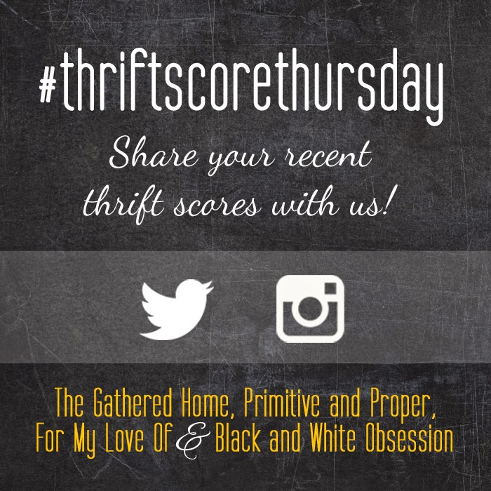 #thriftscorethursday Week 58 | Trisha from Black and White Obsession, Brynne's from The Gathered Home, Cassie from Primitive and Proper, Corinna from For My Love Of, and Guest Poster: Ashley from Bigger Than the Three of Us