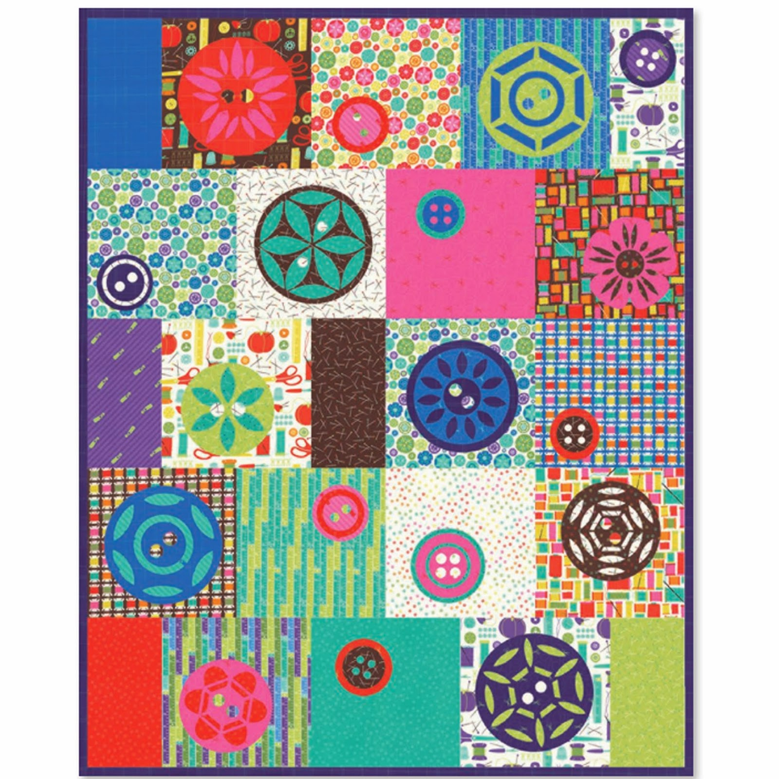 Moda SEWING BOX Free Quilt Pattern by Gina Martin