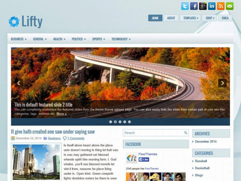 Lifty - Free Wordpress Theme