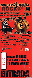 entrada festival malapartida rock 2011